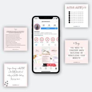 Launch graphics for Instagram social media