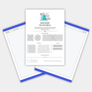 Website Wireframe Canva Template